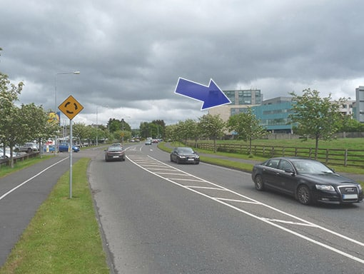 Cleeney Roundabout, Killarney, from Killorglin direction