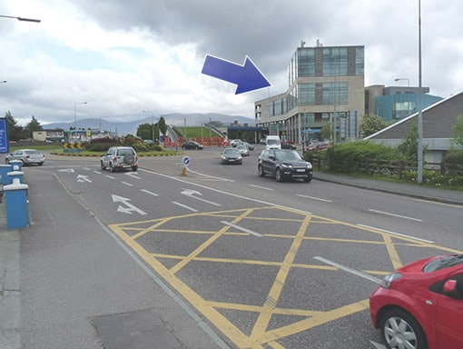 Cleeney Roundabout, coming from Tralee direction